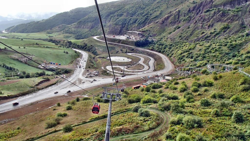 ایستگاه تله کابین حیران در شمال غربی ایران – شهریور  ۱۳۹۴