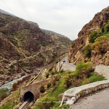 مسیر درود بطرف آبشار بیشه