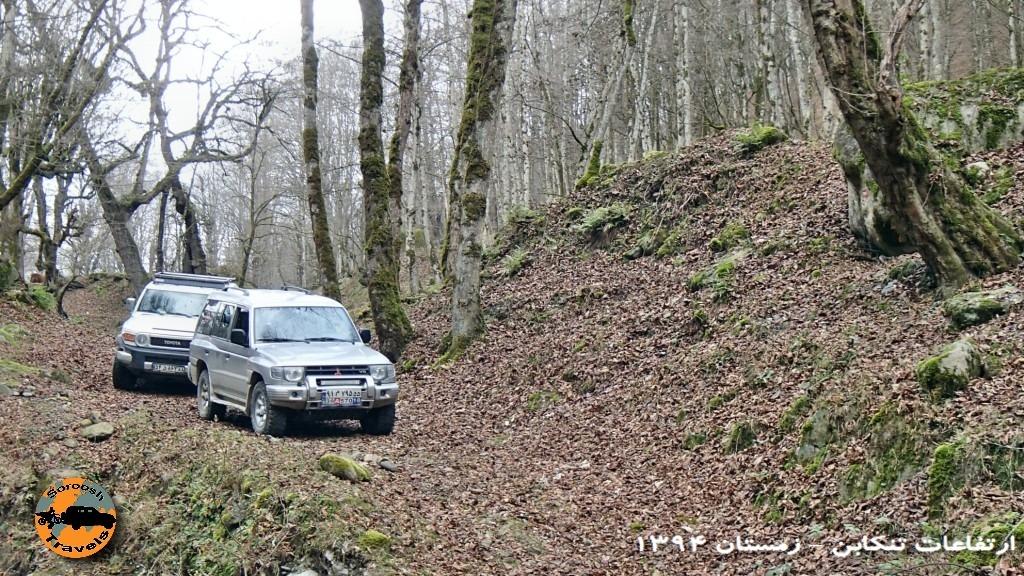 جنگلهای تنکابن – آفرود در جنگل – زمستان ۱۳۹۴