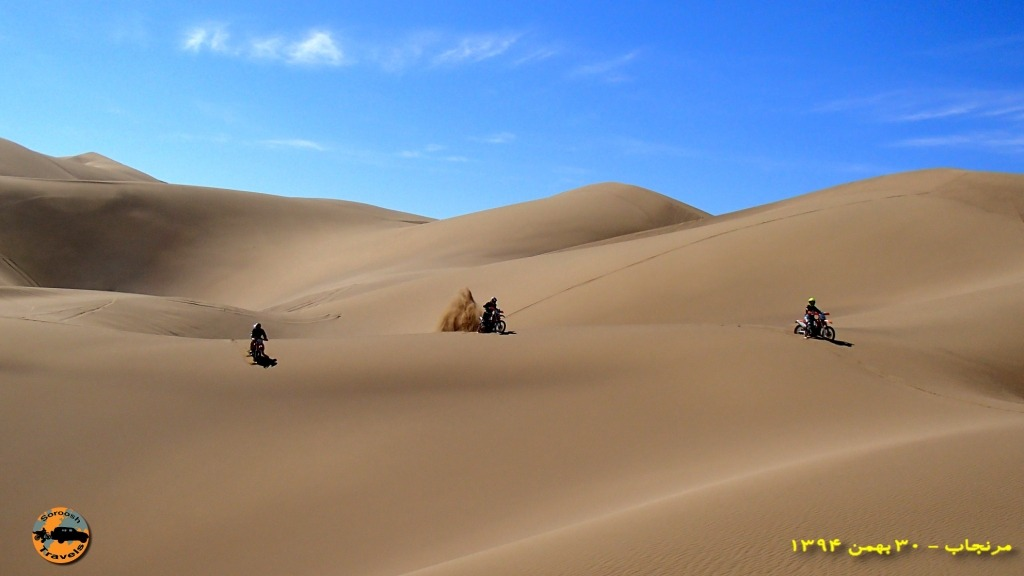 Motorbike tours in Iran - Varzaneh desert