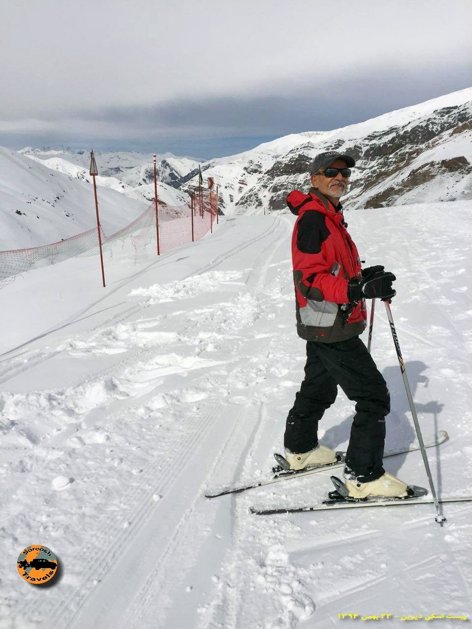 تمرین اسکی برای اولین بار - ۲۲ بهمن ۱۳۹۴