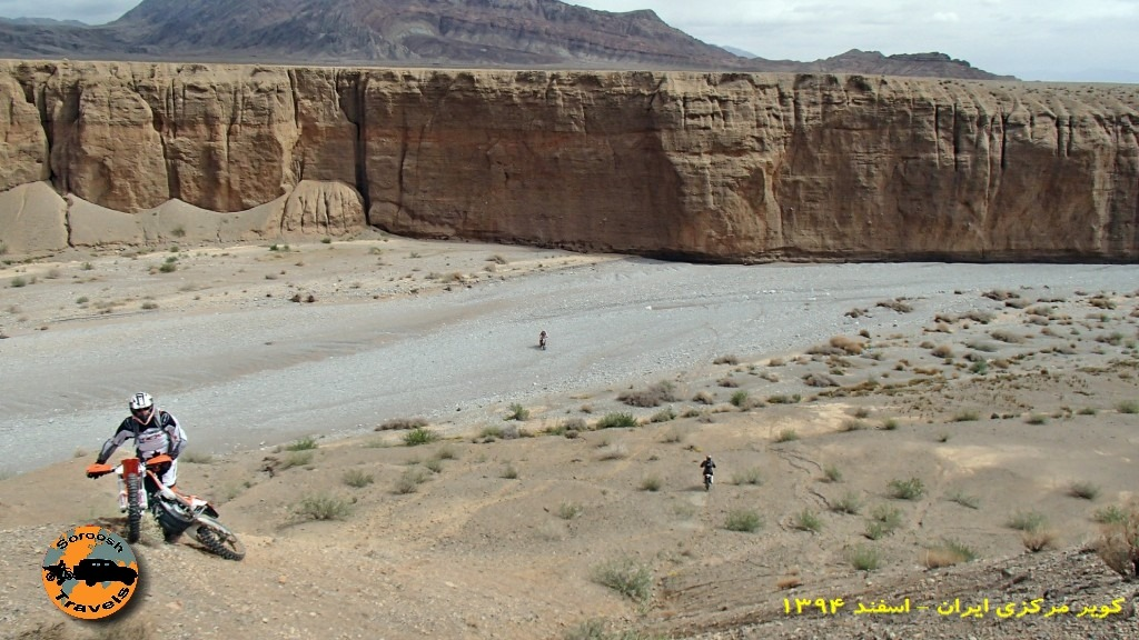تنگه سنگاب از بالا در حاشیه کویر مرکزی ایران - زمستان ۱۳۹۴