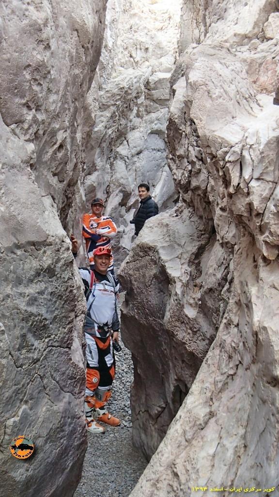 تنگه های عجیب در کویر - حاشیه کویر مرکزی ایران - زمستان ۱۳۹۴