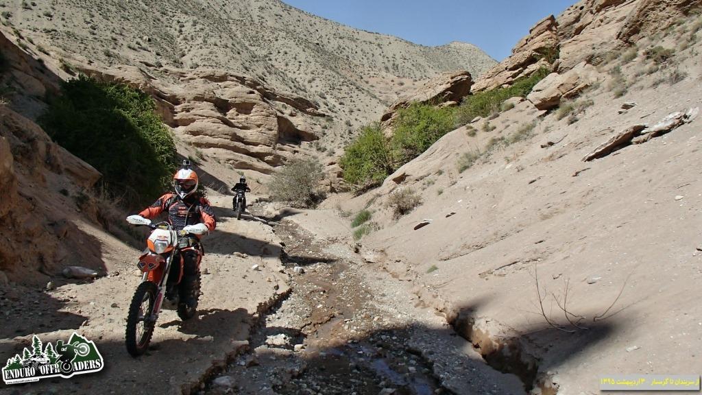 موتورسواری در تنگه های کوهستانی سربندان تا گرمسار - ۲ و ۳ اردیبهشت ۱۳۹۵