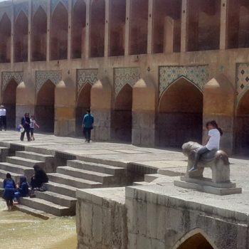 پل تاریخی خواجو در اصفهان - بهار 1395 - 2016