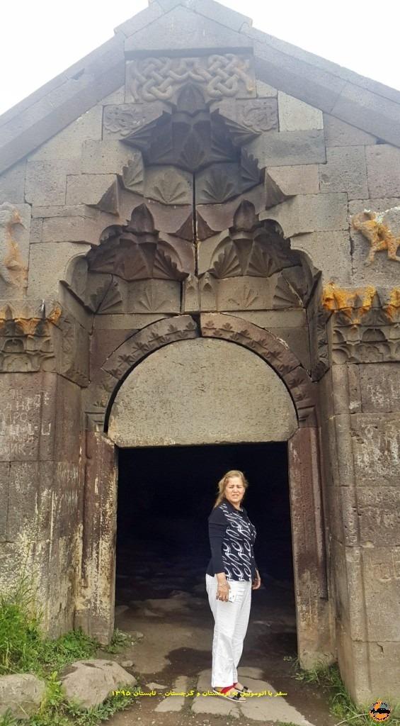 کاروانسرای شاه عباسی در گذرگاه واردنیاتس در مسیر جرموک تا دریاچه سوان - ارمنستان - تابستان 1395