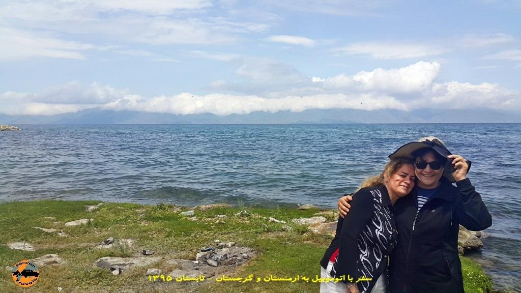 دریاچه سوان با ماشین - ارمنستان تابستان 1395