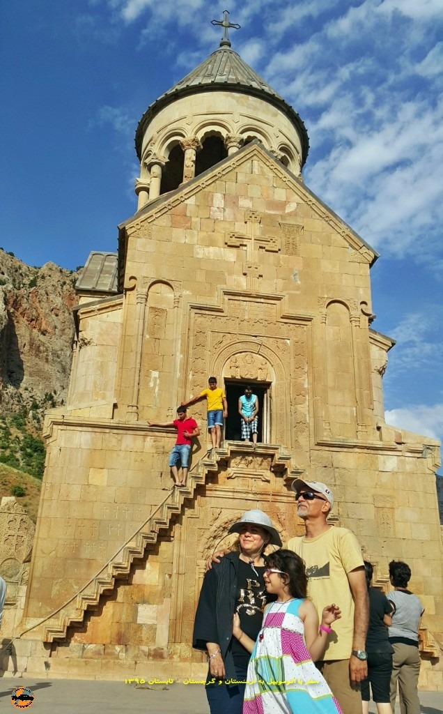 کلیسای نوراوانک با اتوموبیل - تابستان ۱۳۹۵