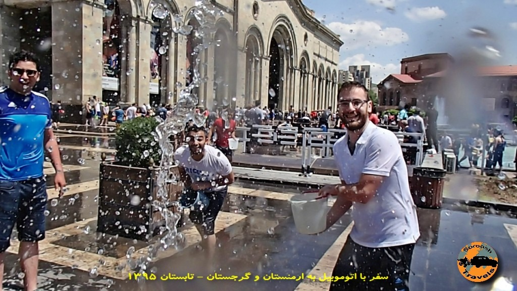 جشن آب یا وارداوار در ایروان - تابستان ۱۳۹۵