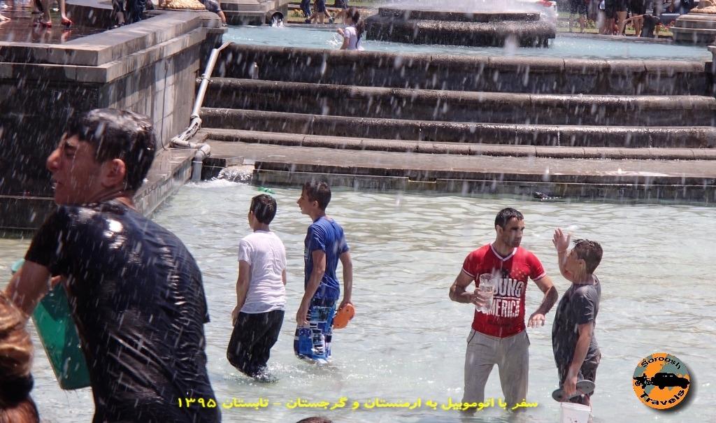 جشن آب پاشی یا وارداوار در ایروان - تابستان ۱۳۹۵