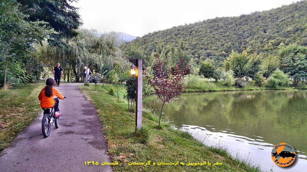 دوچرخه سواری در کنار لوپوتا - گرجستان - تابستان 1395