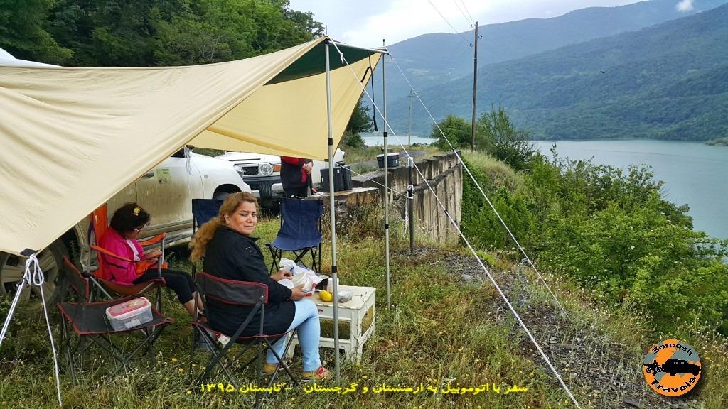 طبیعت اطراف دریاچه ژینوالی - گرجستان - تابستان 1395