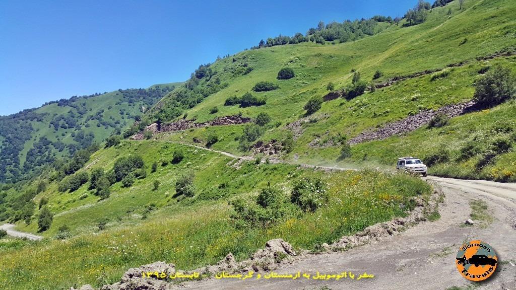 جاده اوشگولی تا مستیا - گرجستان - تابستان 1395