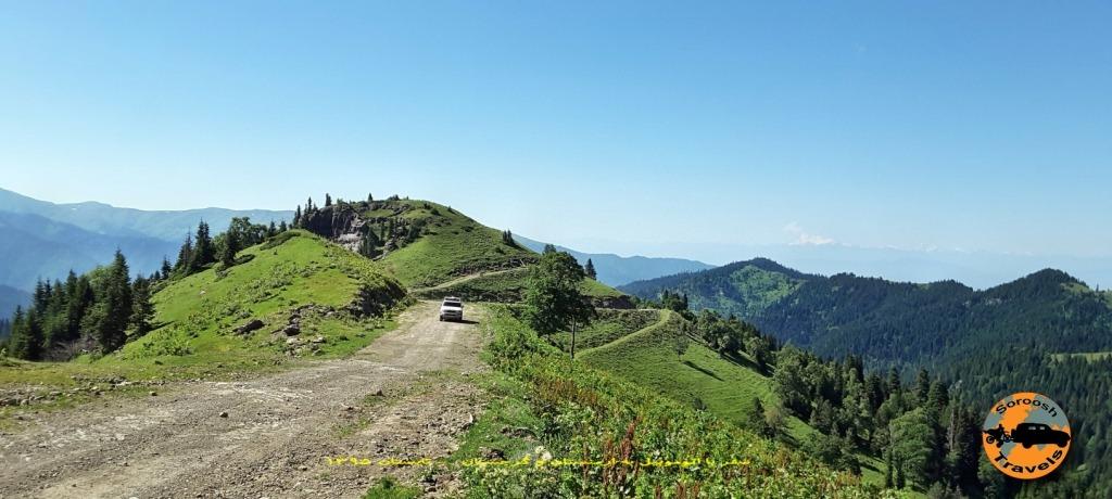 جاده خاراگولی برجومی - گرجستان - تابستان 1395