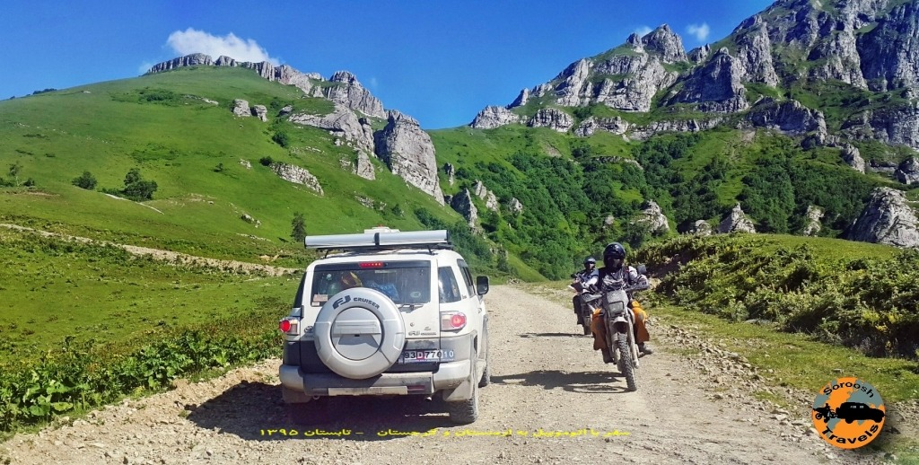 موتورسواران در پارک ملی خارا گولی برجومی - گرجستان - تابستان 1395