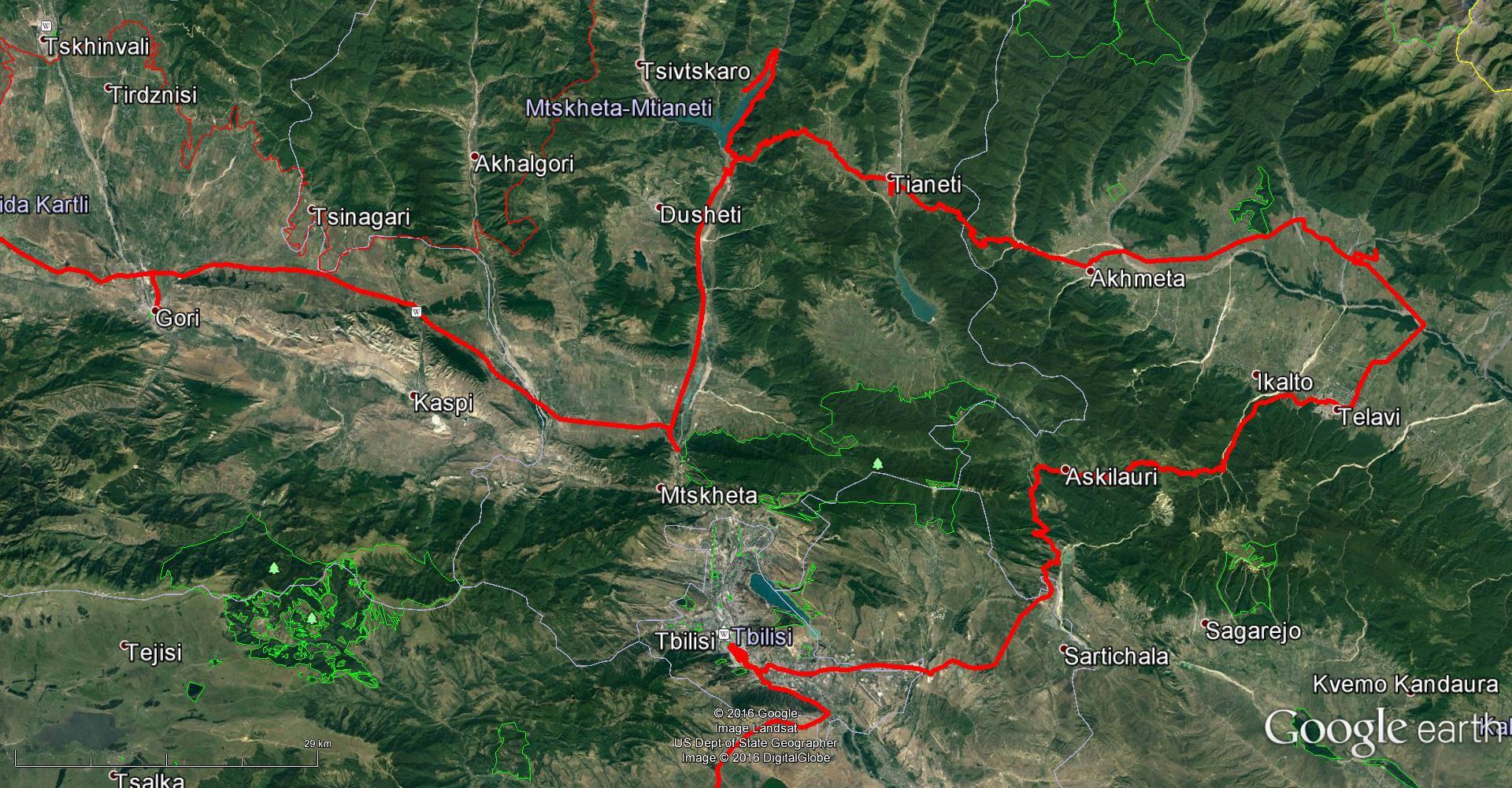 مسیر سفر ما در ارمنستان - تابستان 1395