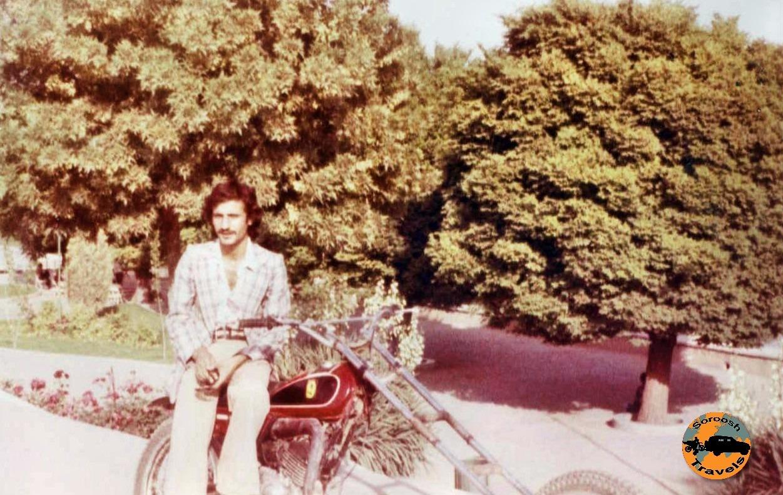 هوشنگ نظری ، موتور سواری در زمان قدیم