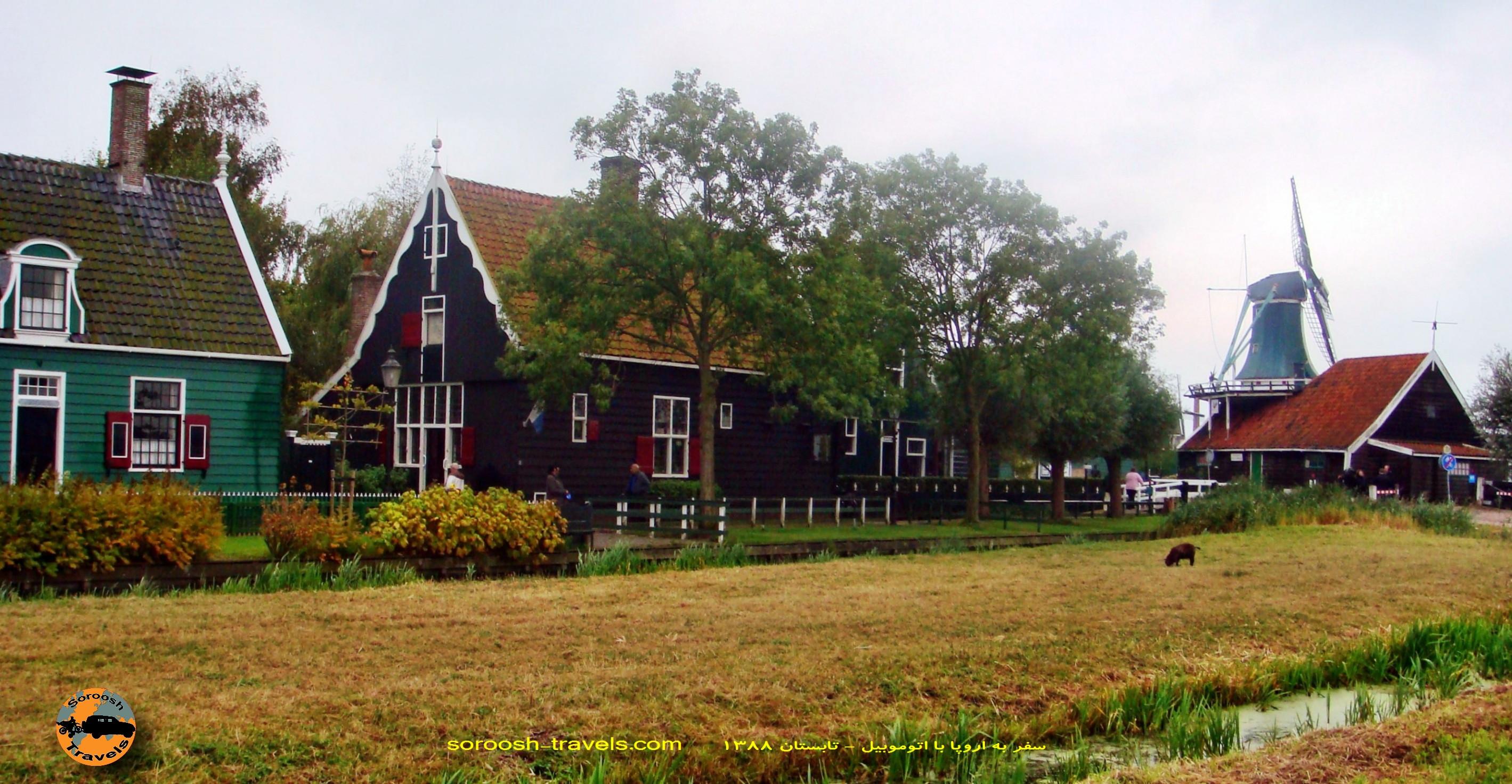 دهکده سنتی زانس سخانس در اطراف آمستردام