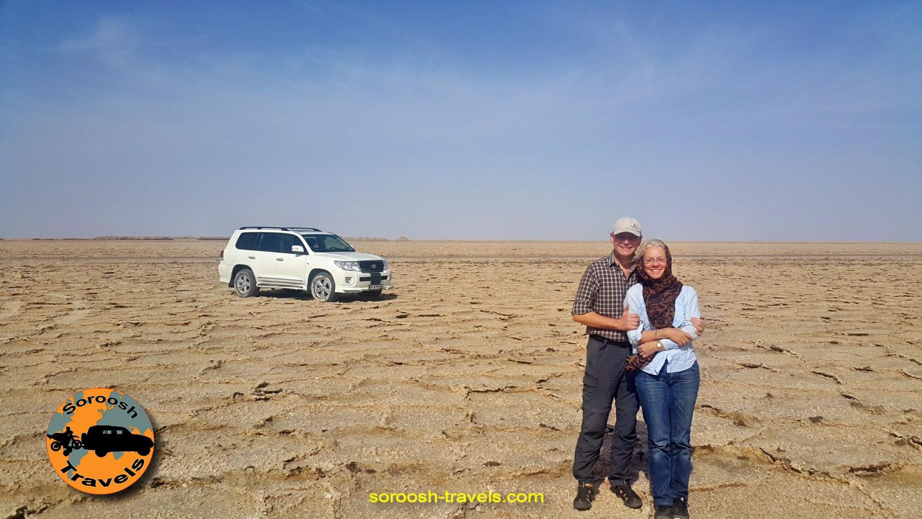 دریاچه نمک کویر مرنجاب - مهرماه 1395