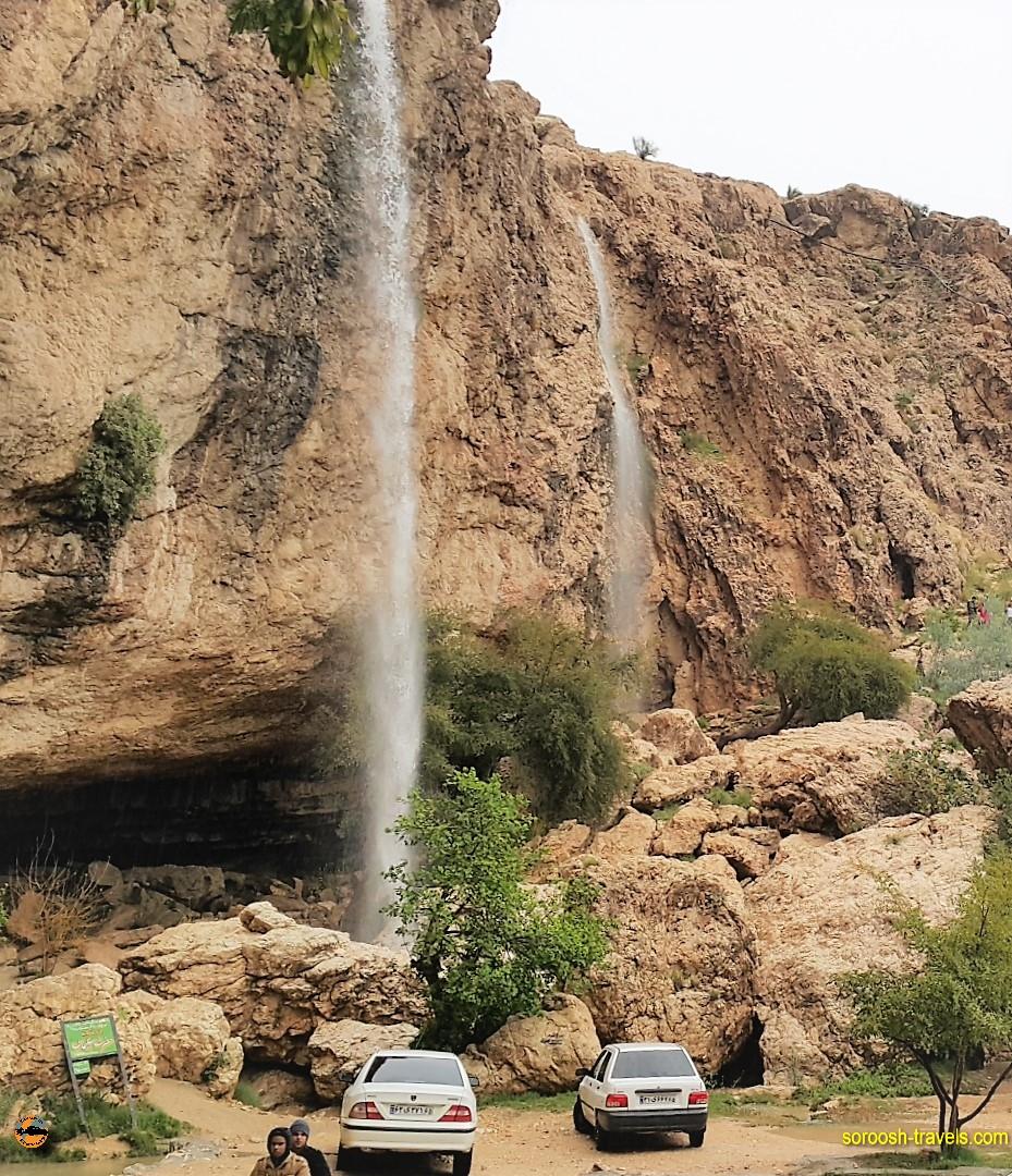 آبشار دوساری از آبشارهای زیبای ایران - نوروز ۱۳۹۶