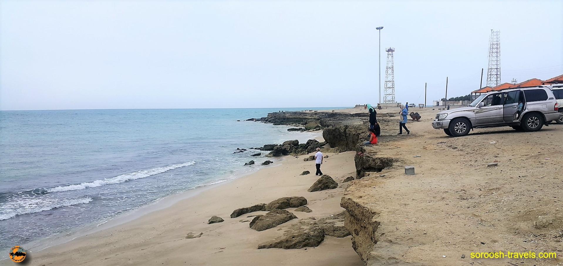 ساحل بندر جاسک ، زیبا و مهجور - نوروز ۱۳۹۶