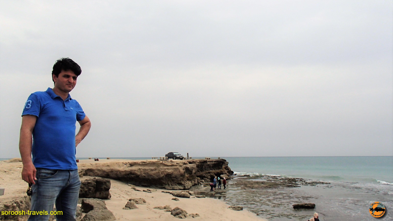 ساحل صخره ای ماسه ای جاسک - نوروز ۱۳۹۶