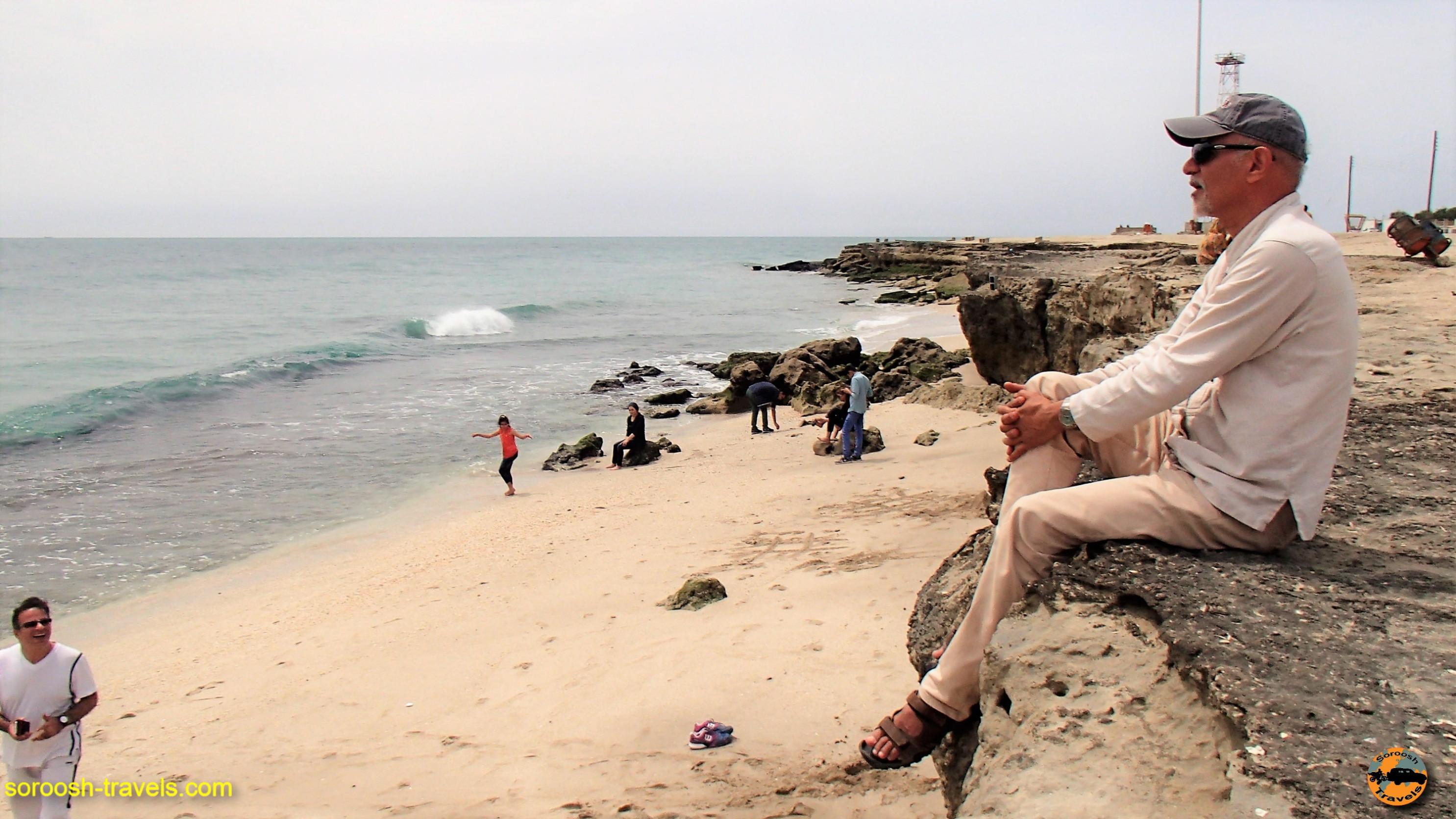 ساحل بندر جاسک ، زیبا و مهجور – نوروز ۱۳۹۶
