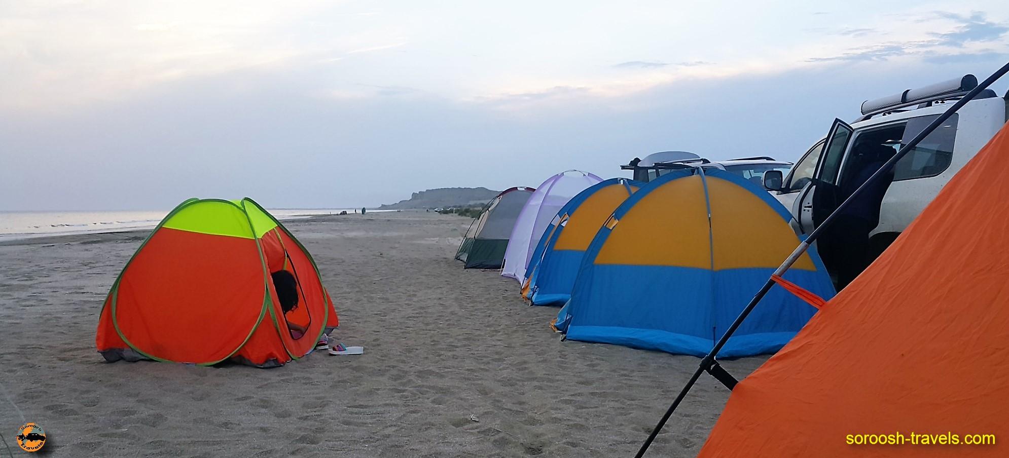 کمپ در سواحل جنوب ایران - نوروز ۱۳۹۶