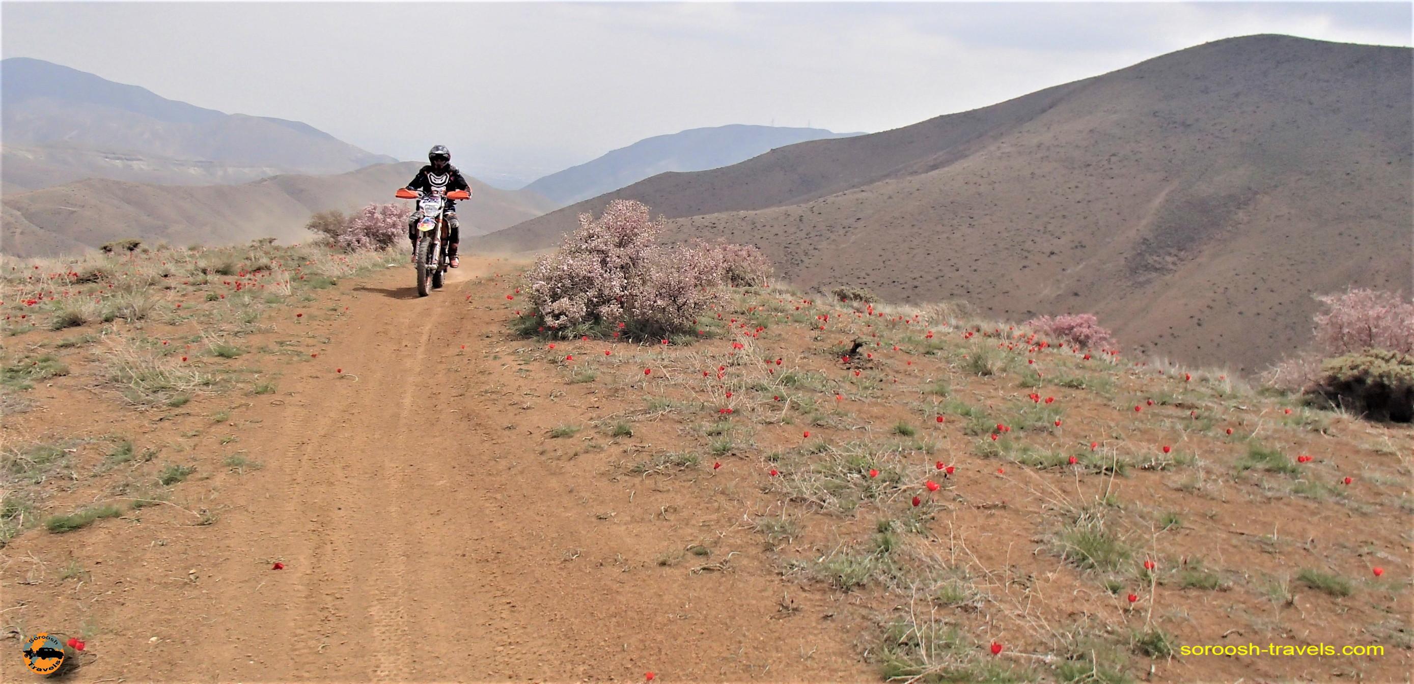 موتورسواری در کوههای وردیج