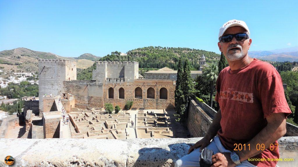 سفر به اروپا با اتوموبیل – تابستان ۱۳۹۰ – قصر باشکوه الحمراء در گرانادا ، اسپانیا