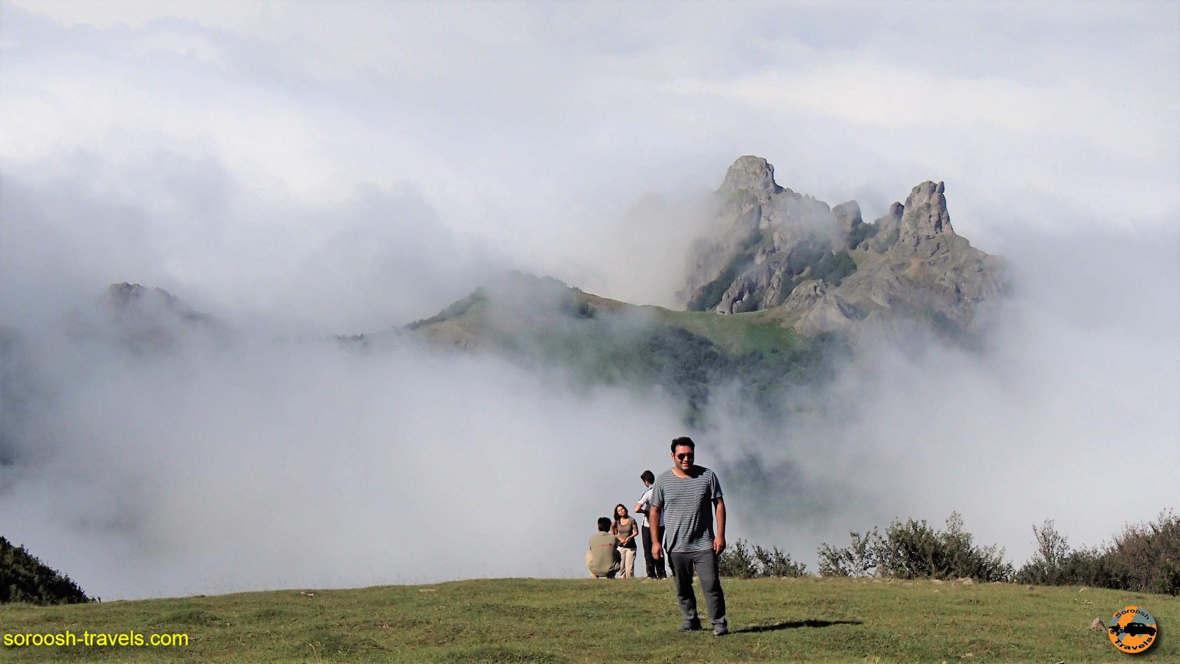 بازی ابر و مه در ارتفاعات سوها - تابستان ۱۳۹۶