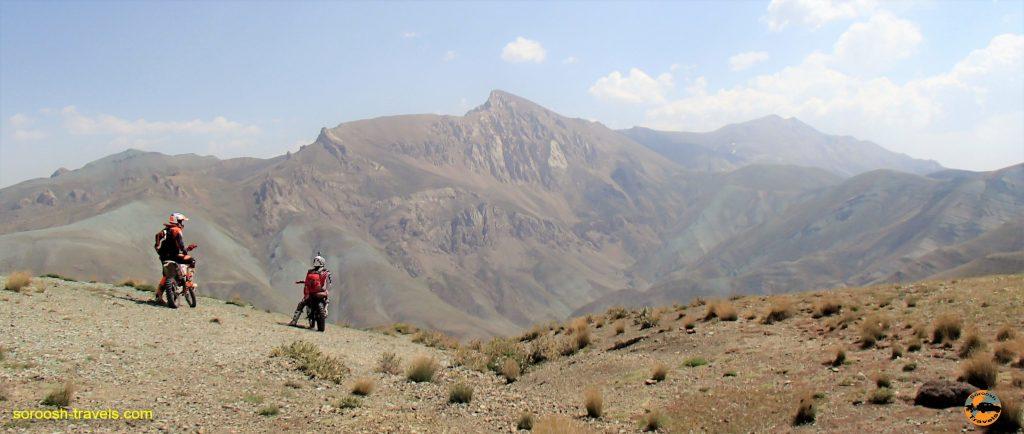 آفرود با موتور در مسیر دیزین ، دشت لار و بلده - تابستان ۱۳۹۶