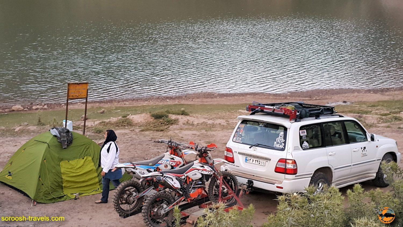 موتورسواری در اطراف دریاچه لزور - مرداد 1396