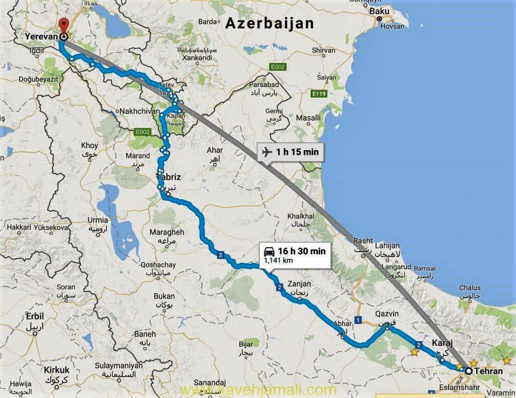 نکات بسیار مفید در رابطه با سفر زمینی به ارمنستان