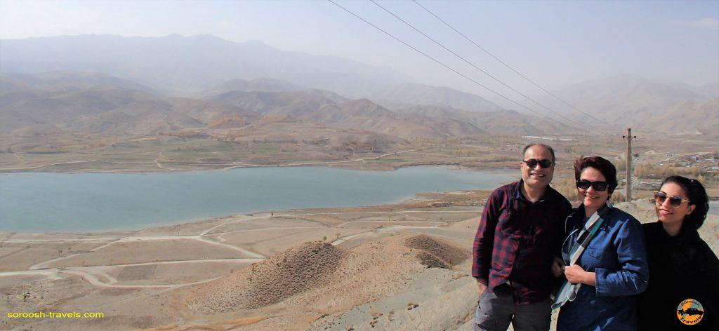 دریاچه سد نمرود بطرف لاسم - پاییز ۱۳۹۶