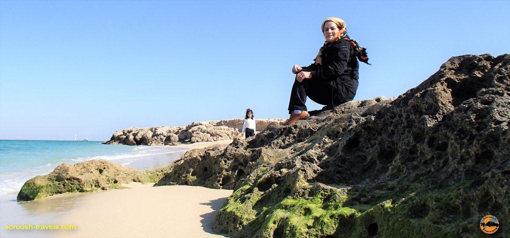سواحل صخره ای کیش - پاییز 1393