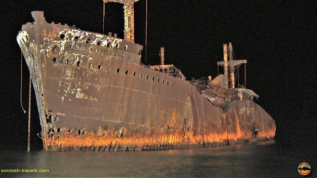 کشتی یونانی در جزیره کیش - پاییز 1393
