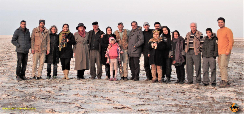 دریاچه نمک مرنجاب با ماشین - پاییز ۱۳۹۳