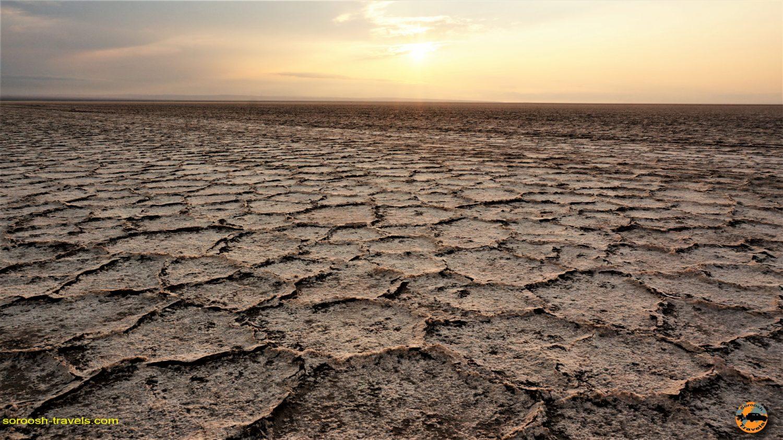 غروب دریاچه نمک مرنجاب - پاییز ۱۳۹۳