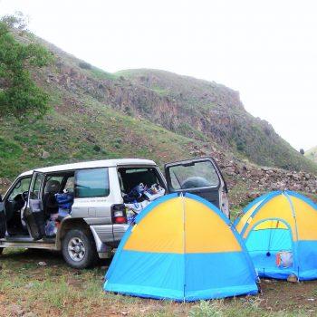 کمپ در طبیعت - چادر زدن در طبیعت