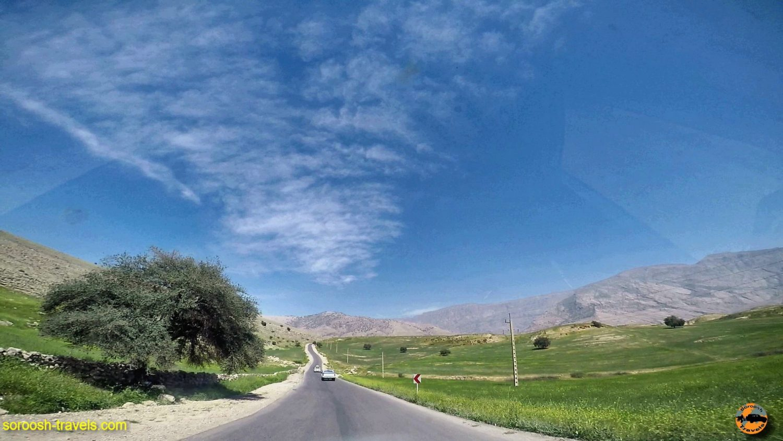 مسیر ایذه تا دشت سوسن