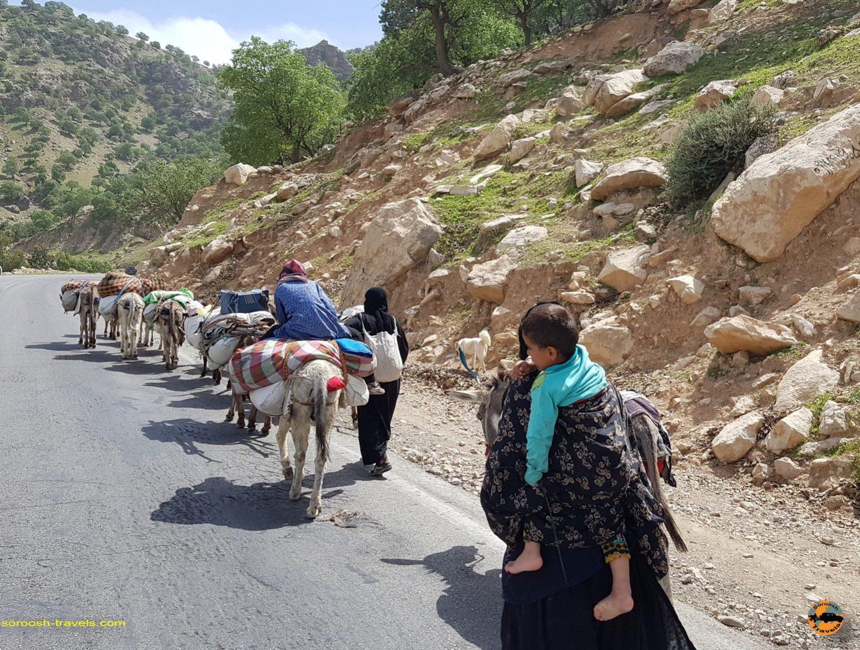کوچ عشایر در منطقه ایذه - نوروز 1397 2018
