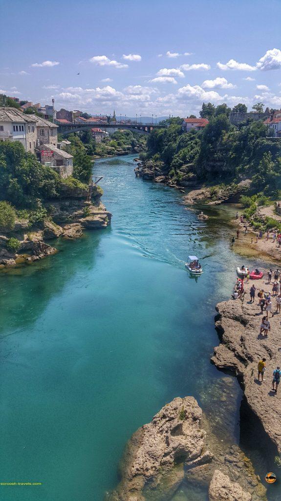 رودخانه شهر موستار در بوسنی هرزگوین