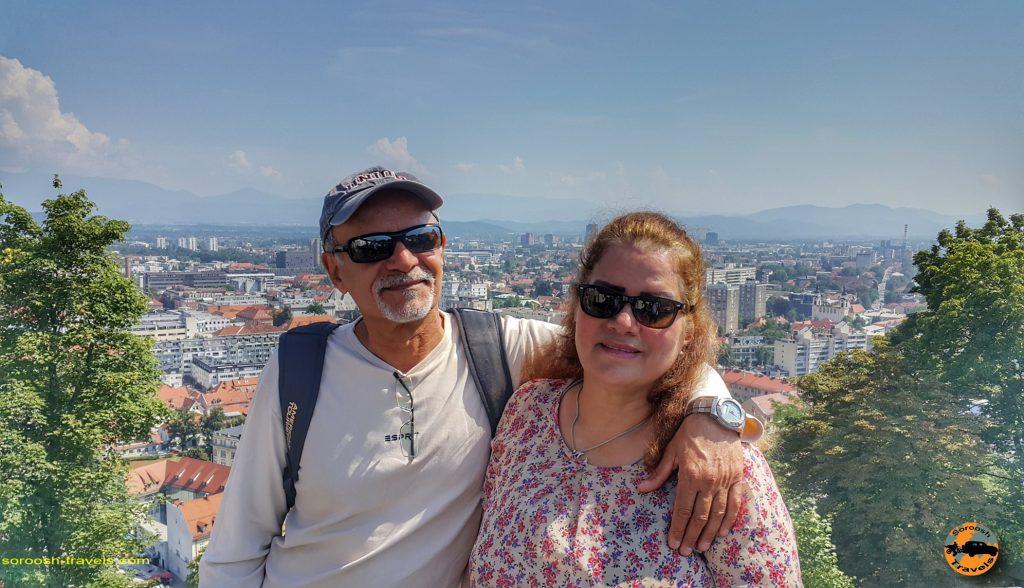 منظره شهر لیوبلیانا از قلعه
