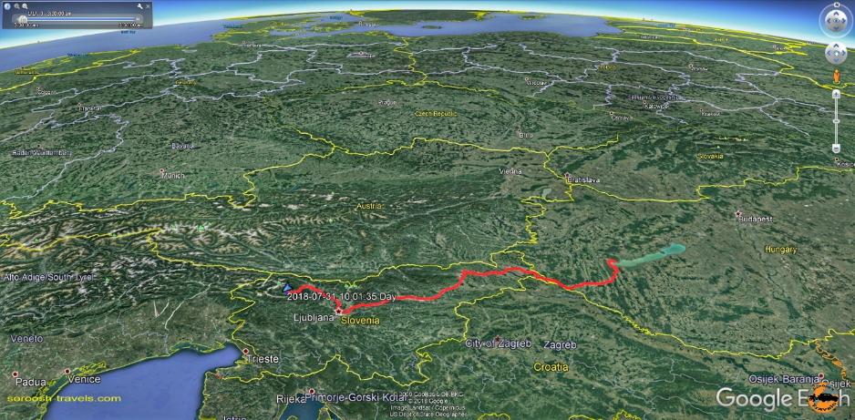 مسیر ما از شهر بِلِد در اسلوانی تا شهر هِویز در مجارستان - تابستان 1397