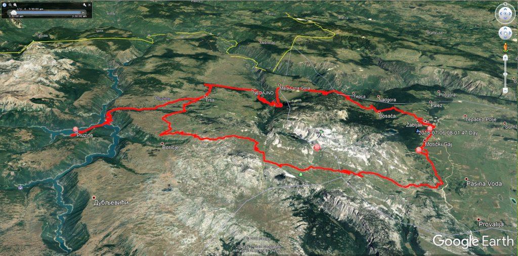 حدود 100 کیلومتر رانندگی در پارک ملی دورمیتور، شمال غربی کشور مونته نگرو