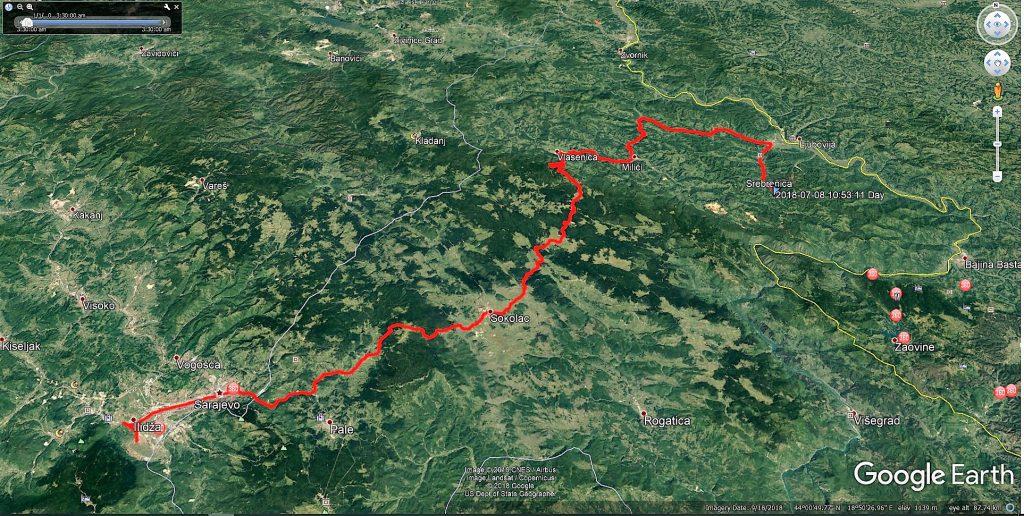 مسیر سربرنیتسا به سارایوو