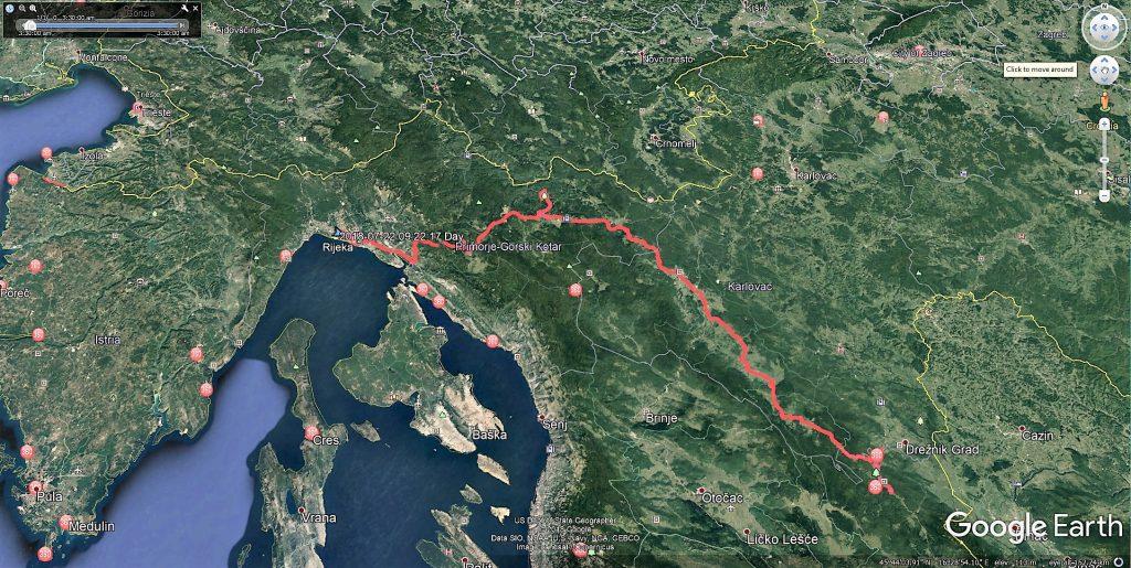 مسیر طی شده امروز ما از ری یکا بطرف تنگه شیطان و بعد مجموعه آبشارهای عظیم پلیت ویچه