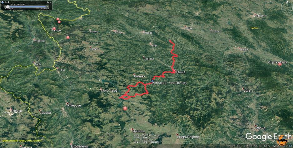 مسیر ما از رودخانه زیبای یوواچ تا روستای گوچا در صربستان – ۱۶ مرداد ۱۳۹۷