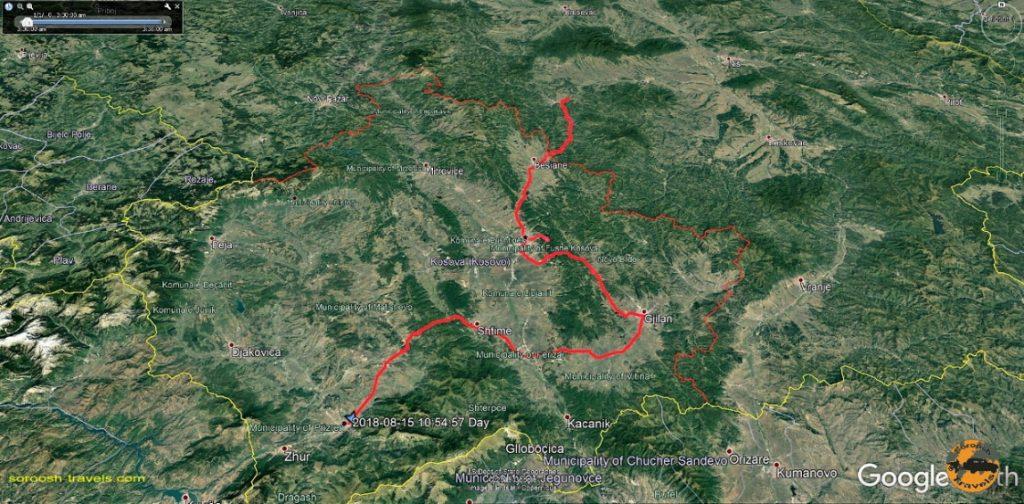 مسیر کوزوو به صربستان - تابستان 1397